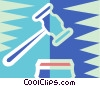 Vector Clip Art graphic  of a judges gavel