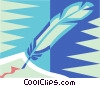 feather pen Vector Clipart image