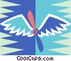 Vector Clipart image  of a wings and propeller