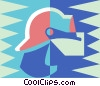 Vector Clip Art graphic  of a firefighter helmet