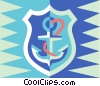 shield and anchor Vector Clipart picture