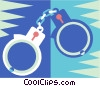 handcuffs Vector Clipart illustration