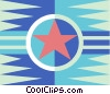 military stripe Vector Clipart illustration