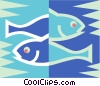 Vector Clip Art picture  of a Pisces