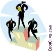 Vector Clip Art image  of a businesspeople standing on a