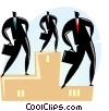 podium with businessman Vector Clip Art picture