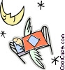 sleeping angel Vector Clipart illustration