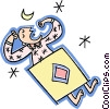 Vector Clipart graphic  of a sleeping