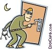 Vector Clipart picture  of a burglar