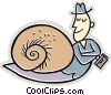 Vector Clip Art picture  of a moving at a snails pace