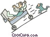 Vector Clip Art graphic  of a run away stretcher