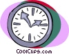 Vector Clip Art graphic  of a clocks