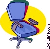 Vector Clipart illustration  of a office chairs