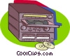 mini stereo system Vector Clipart graphic