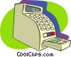 Vector Clip Art image  of a cash registers