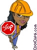 road crew/construction worker Vector Clip Art graphic