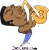 man playing the saxophone Vector Clipart picture