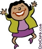 Vector Clip Art graphic  of a happy businesswoman