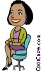 woman sitting in a chair Vector Clipart picture