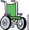 Vector Clipart illustration  of a wheelchair