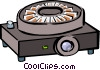 Vector Clip Art image  of a slide projector
