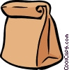 brown lunch bag Vector Clipart picture