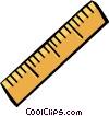 Vector Clip Art image  of a ruler