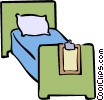 hospital bed Vector Clip Art graphic