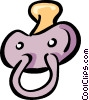Vector Clipart graphic  of a pacifier