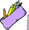 Vector Clip Art picture  of a pencil case