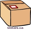 Vector Clip Art graphic  of a shipping cases