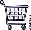 Vector Clipart graphic  of a shopping cart