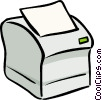 Computer printer Vector Clipart picture
