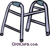 Vector Clipart graphic  of a walker