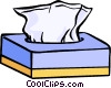Vector Clip Art graphic  of a box of tissues