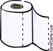 toilet paper Vector Clipart picture