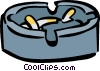 smokes ashtrays Vector Clip Art image