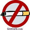 Vector Clipart illustration  of a no smoking sign