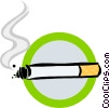 Vector Clipart image  of a smoking sign