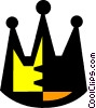 crowns Vector Clipart graphic