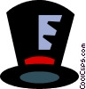 Vector Clipart graphic  of a top hats