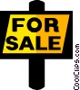 Vector Clip Art graphic  of a for sale sign