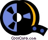 Vector Clipart image  of a film canister