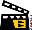 clapboard Vector Clipart illustration