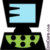 office/home computers Vector Clipart illustration