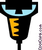 Vector Clip Art image  of a hand scanners
