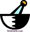 Vector Clip Art picture  of a mortar and pestle