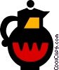 Vector Clipart graphic  of a coffee pots
