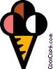 Vector Clipart graphic  of a ice cream cone