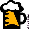 Vector Clip Art graphic  of a mug of beer